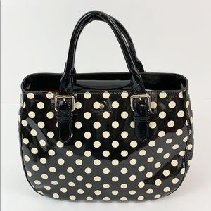Kate spade black and white polkadot purse